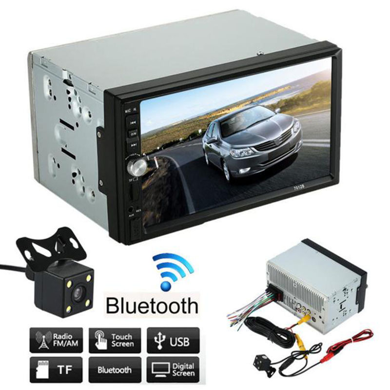 7 inch Double 2 Din Car Stereo MP5 MP3 Player Radio Bluetooth USB AUX + Parking Camera Multimedia Player Host(China (Mainland))