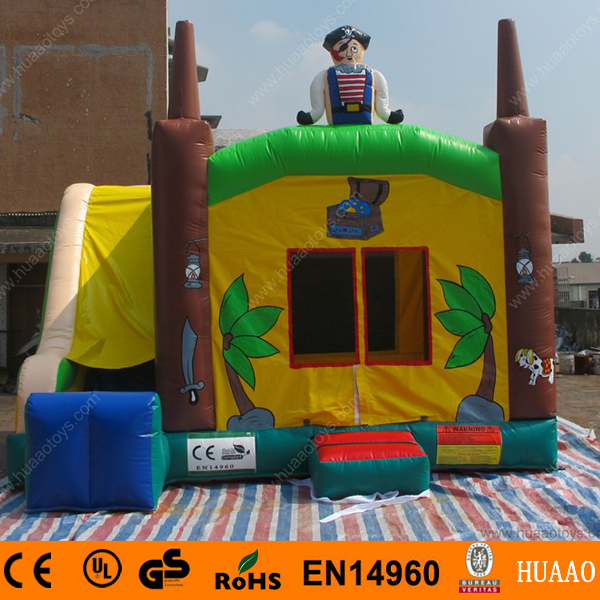 Commercial 5*4m Pirate Boat Inflatable Jumping Bouncer Castle with Slide and CE Blower(China (Mainland))