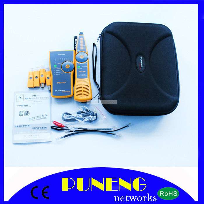 Network tool kit Multipurpose Network LAN Cable Tester and hunter Cat 5E, Cat 6E & ethernet Puneng PN-FF(China (Mainland))