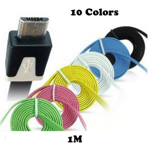 Hot 1M 3ft Colorful Mobile Phone Micro Usb Sync Data & Charge Cable For Samsung galaxy S3 S4 S5 S6 HTC LG Nokia Android Phone(China (Mainland))