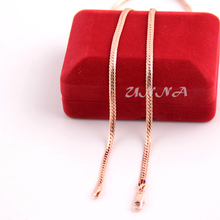 New 3mm Herringbone Snake Chain Man Woman Rose Gold Plated Filled Necklace UN004042907(China (Mainland))
