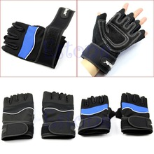 Free Shipping Weight Lifting Gym Gloves Training Fitness Wrist Wrap Workout Exercise Sport New