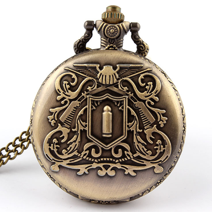 Wholesale trade bullet explosions eBay aliexpress Amazon Queen Royal Pocket Watch necklace table General(China (Mainland))
