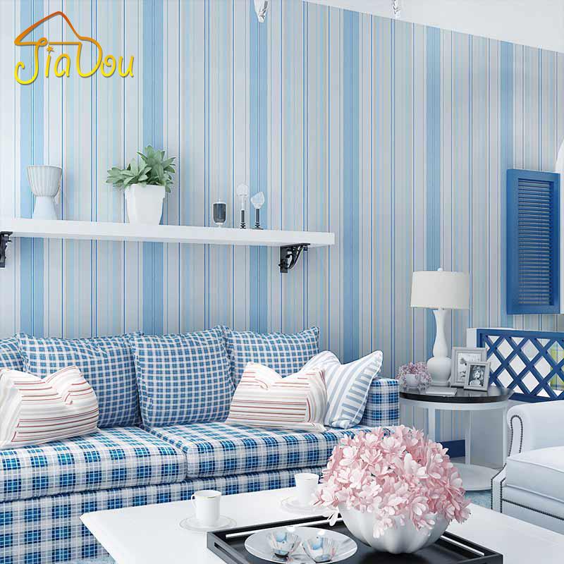 Tapeten Mediterranen Stil : Mediterranen Stil blau rosa vertikale Streifen Vliestapete Wandbild