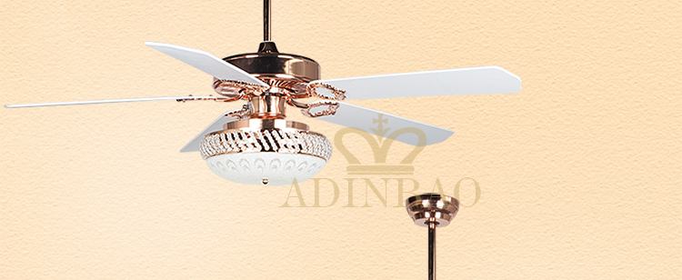Air cooling fan AC double roll 52inch ceiling fan light fresh air for summer/winter XJ044