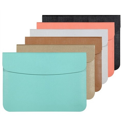 "Hot PU Leather Sleeve Case For MacBook AIR 11.6"" AIR 13.3, Retina 12, 13.3, 15.4, Protecter Envelope Bag, Free Drop Shipping.(China (Mainland))"