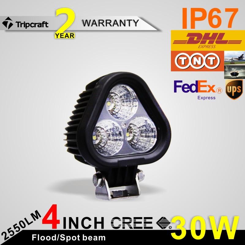 On sale 30W CREE LED Work Light 12V 24V IP67 Motorcycle head light lamp Motorbike Spot beam lighting<br><br>Aliexpress