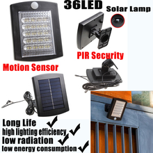 36 LED Solar Lamps for Garden Waterproof Outdoor Lighting with Motion Detector Function PIR Security 2 Year Warranty Protection(China (Mainland))