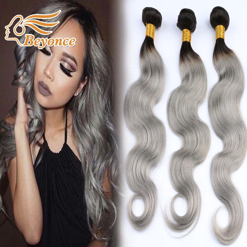 Grey Brailian Body Wave Hair Bundles,Brazilian Virgin Human Hair Bundles 3pcs/lot,Cheap Silver Grey Human Hair Weave<br><br>Aliexpress
