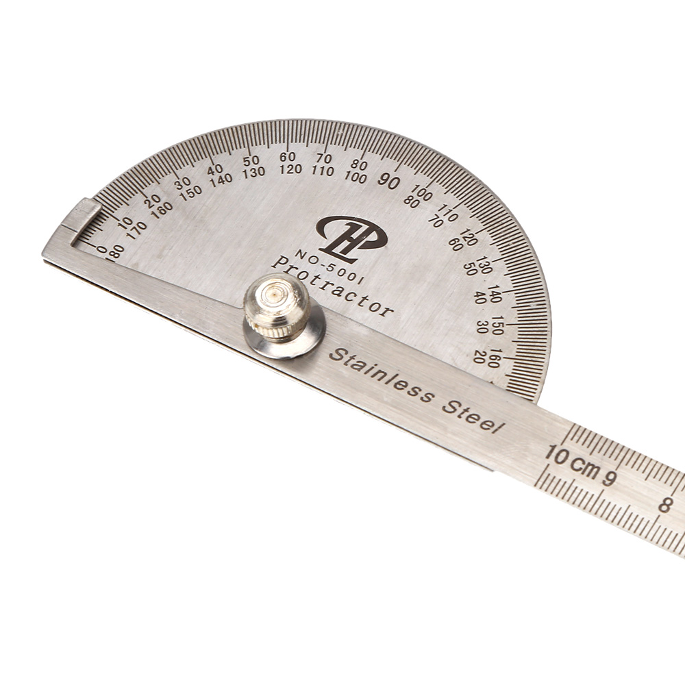 Stainless Steel Protractor Round Head Rotary Goniometer Angle Ruler Professional Measuring Tool Drafting Supplies(China (Mainland))