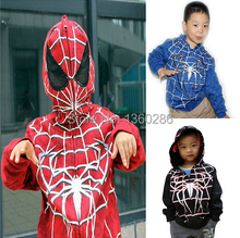 2014 New autumn Children Boys Spiderman hoodies jacket sweatershirt spider-man clothes for kids free shipping(China (Mainland))