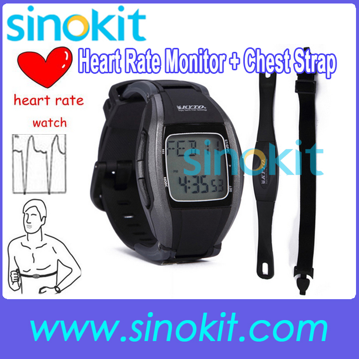 Wireless Multi-Function Heart Rate Monitor Chest Strap Watch Fitness Belt Sport Calorie Fat Calculation 30 ~ 240 bpm(China (Mainland))