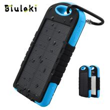 Hot power bank real 8000mah solar Dual-USB Waterproof Portable charger LED External Battery Phone - Shenzhen jinrui shops store