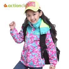 Actionclub Kids Hiking Jackets For Girls Children Outwear Water-proof Sports Jackets Warm Outdoor Coats jaqueta feminina KU787