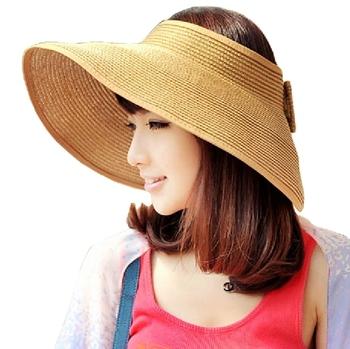 Women Summer Spandex Beach Sun Cap,Kaka Popular Multicolour Big Along Straw Hat Sun Hat Summer Beach Cap,Free Shipping!