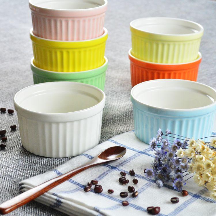 Shu Fulei ceramic glaze baking baking bowl Candy Mold creative yogurt pudding bowl dessert bowl cakes oven bag mail<br><br>Aliexpress