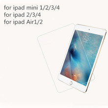 0.3mm Premium Tempered Glass for iPad Mini 1 2 3 Glass for ipad 2 3 4 5 6 Air1 2 9H Hard High Transparent Screen Protector(China (Mainland))