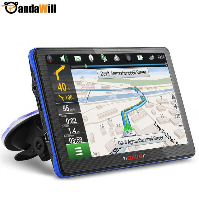 7 inch car gps navigation capacitive screen fm built in for Housse etanche gps moto