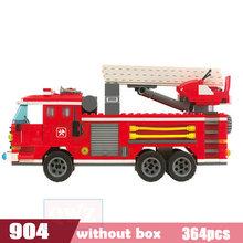 Cidade Legoes Wrecker Saneamento Sorvete Carro Da Polícia Caminhão Blocos Tijolos Crianças Brinquedos Maravilha Cidade Amigos Presentes de Natal(China)