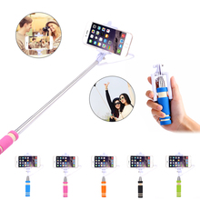 Mini Extendable Handheld Self Stick Case For iPhone Samsung HTC SONY Nokia LG Remote Cable Built-in Shutter Self-photograph(China (Mainland))