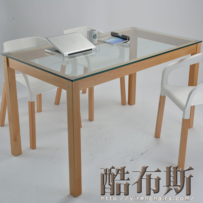 Room modern minimalist dining table desk with solid wood kitchen table