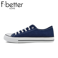F.better Mens Classic Canvas Casual Shoes For Men Lace-up Men trainer Shoes 2016 HOT