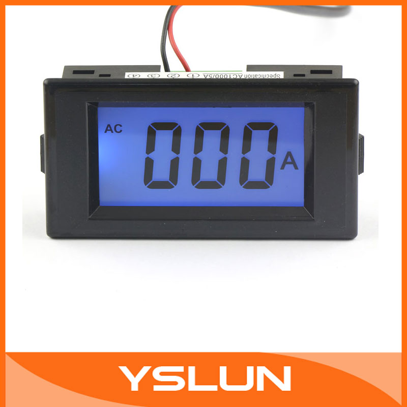 Здесь можно купить  5 PCS/LOT Blue LCD Ampere Panel Meter AC 0-1000A Four wires Current Measure Meter AC/DC 8-12V Power Supply #100180  Инструменты