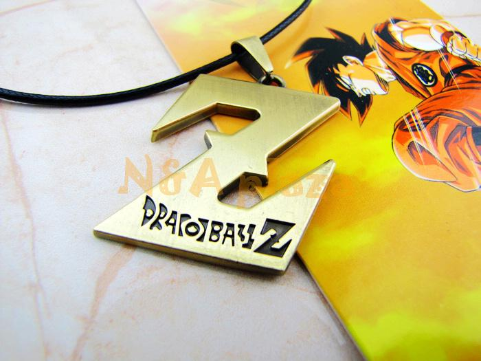 Anime Dragon ball Z DBZ Goku Alloy Pendant Cosplay accessorie Black Leather Chain Necklaces Free shipping(China (Mainland))