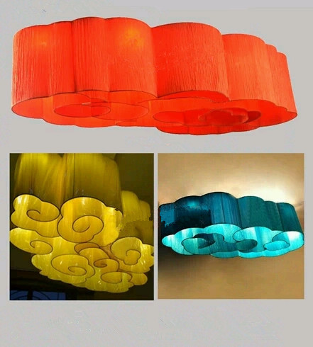 Creative Lighting Chandeliers Modern Chinese clouds drawing new creative drawing light chandelier lamp living room bedroom den(China (Mainland))
