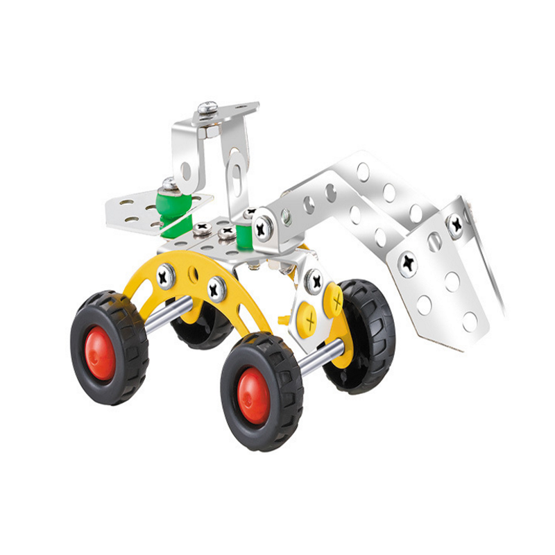1 Set Children Educational Toys Metal Assembly Disassembly Alloy Engineering Vehicle Airpalne Model Building Kits Baby Kids Gift(China (Mainland))