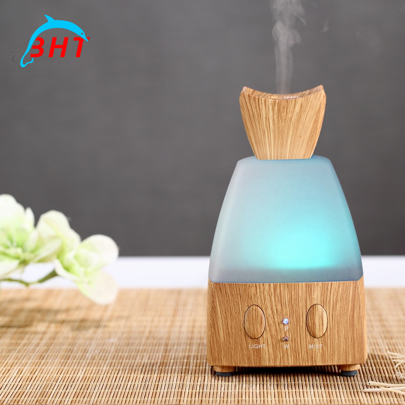 Ultrasonic Carve Essential Oil Aroma Diffuser Portable Mini Air Humidifier Aromatherapy Tabletop Led Air Purifier Cleaner(China (Mainland))