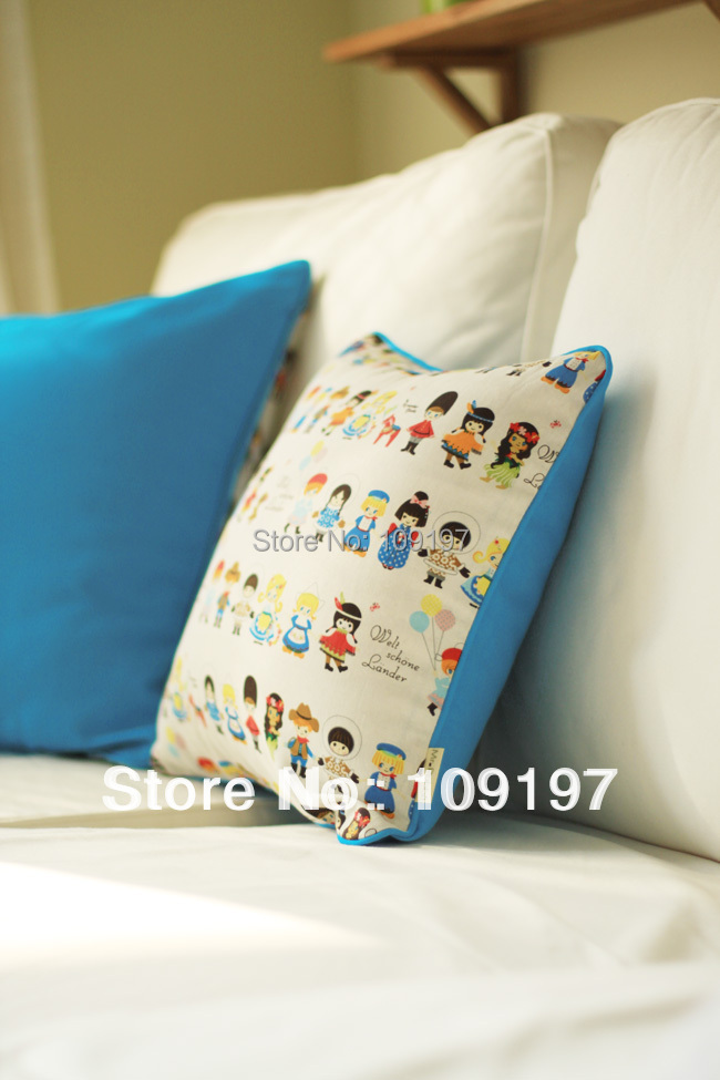 Wholesale! best selling linen cotton fabric sofa decoration car living room chair back pillow cushion over HFBB-07 50cm*50cm(China (Mainland))