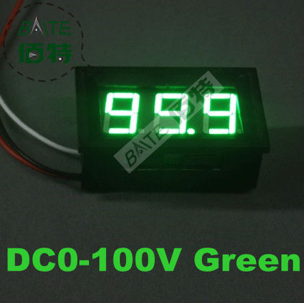 10PCS 3 Wire Green LED digital display Voltage Panel Meter Voltmeter With Reverse Polarity Protection range DC0-100V 00029995(China (Mainland))