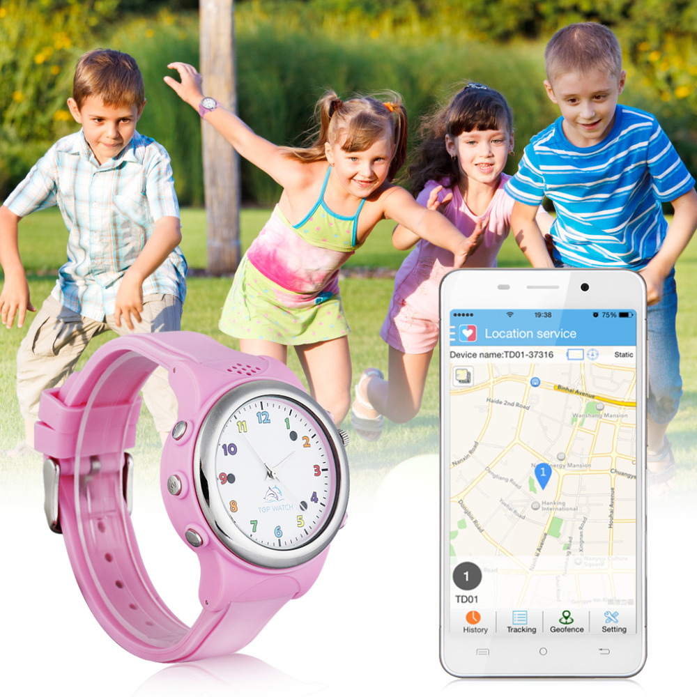 Top Watch Kids GPS LBS Tracker Double Location Tracking Smart Watch Monitor SOS Call SIM Card for Android and ios for Children(China (Mainland))