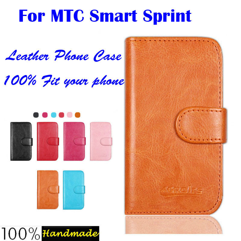 In Stock! Newest Flip Leather Case For MTC Smart Sprint Phone Case Cover Wallet with card holder 6 Colors Free Shipping(China (Mainland))