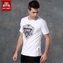 Homme 2016 Fashion Print Streetwear Tshirt AFS JEEP Men Short Sleeve Summer Brand Clothes T Shirts Mens Casual Loose Tee Shirt(China (Mainland))