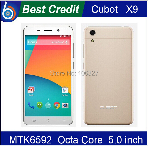Original Cubot X9 5.0 Inch IPS HD MTK6592 Octa Core 2GB RAM 16GB ROM Android 4.4 3G Mobile Phone 13MP camera mobile phone/Eva(China (Mainland))