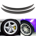 2pcs Strength 25mm Car Tires Suitable Round Rubber Stickers Soft Carbon fiber Wheel Eyebrow Decorative Strips