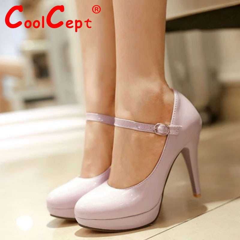 women stiletto high heel shoes patent leather sexy platform spring fashion heeled pumps heels shoes size 31-43 P16705<br><br>Aliexpress