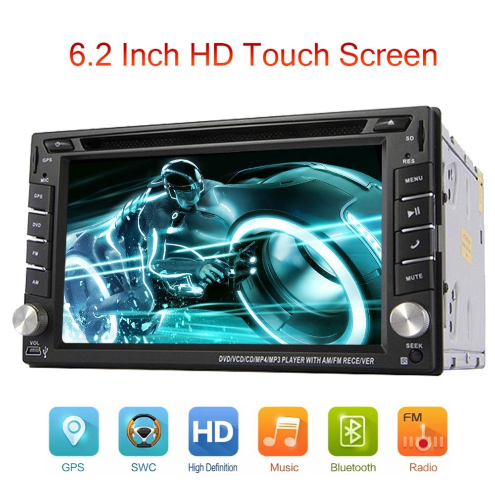 Car Electronic Double 2 Din Car DVD Player Auto Radio GPS In Dash Car PC Stereo Video Free Map Card RDS Universal Bluetooth(China (Mainland))