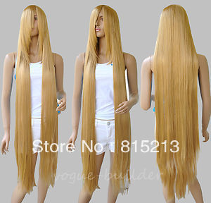 jj 008 100cm Long Rapunzel Tangled Light Golden Blonde Straight Cosplay Hair Wig - Online Store 815213 store