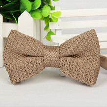 19 Colors Men Neck Ties Tuxedo Knitted Bowtie Bow Tie Pre-Tied Adjustable Knitting Casual Ties L29