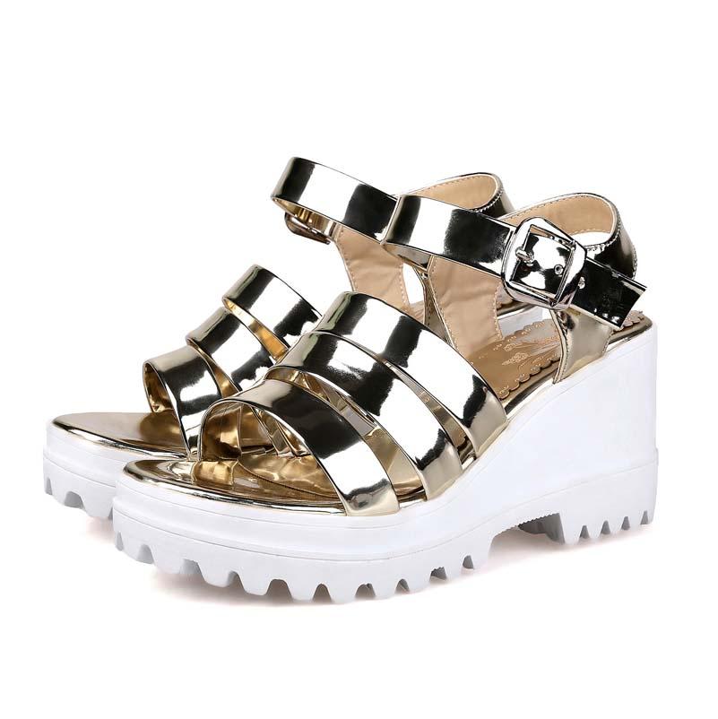 Hot New Fashion Sale Women Sandals High Heel Platform Shoes Thick Ladies Elegant Wedding Party Shoes Gladiator Sandals Women