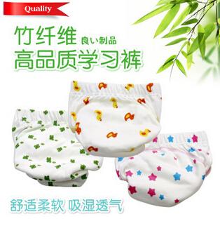 3pcs/set Bamboo fiber Waterproof Baby Cloth Diapers Training Pants Boy Girl Shorts Underwear Nappies Panties T3347(China (Mainland))