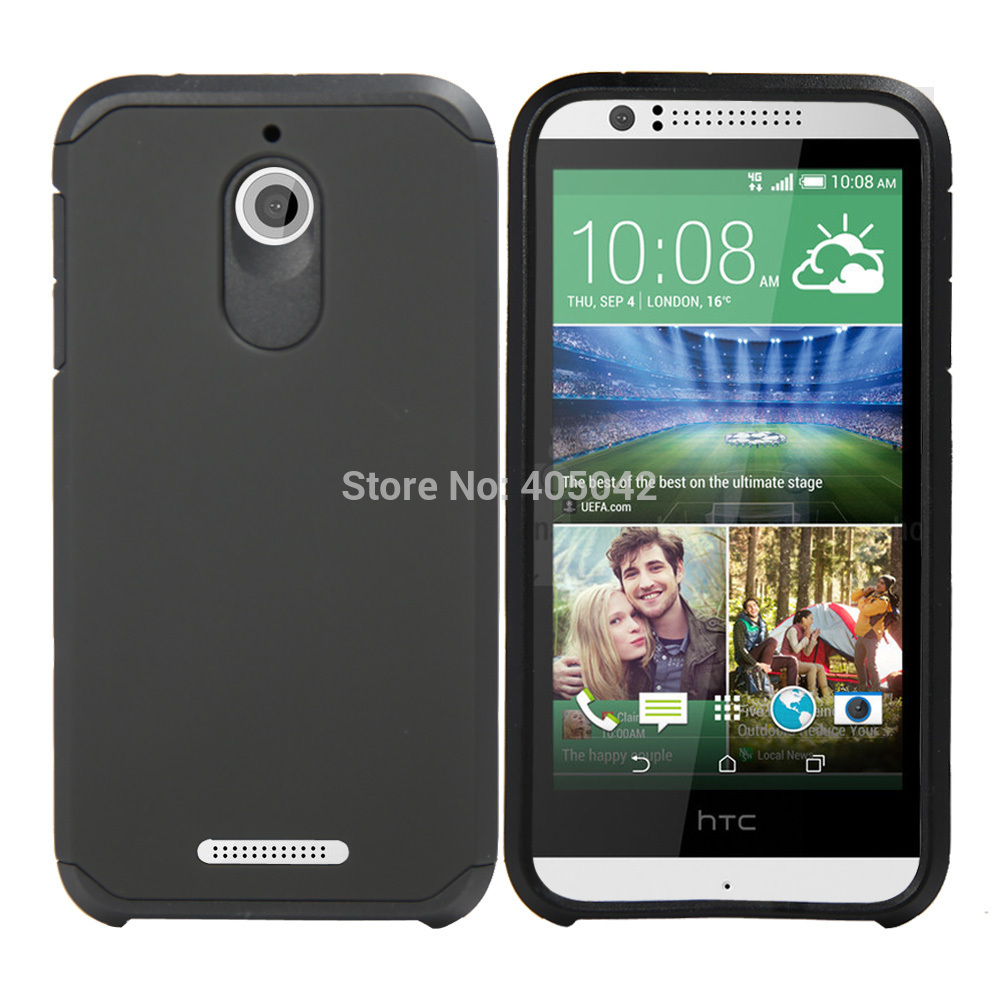 Phone cases Slim Fit Hybrid Shockproof Armor Impact Case Hard Protective Cover For HTC Desire 510(China (Mainland))