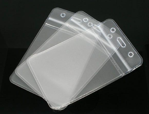 Гаджет   10 Transparent Waterproof ID Badges Holders Pouches 113x69mm None Офисные и Школьные принадлежности
