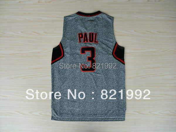 Hottest Sale New Arrival #3 Chris Paul Men's Los Angeles Static Fashion Gray Color basketball Stitched jerseys(China (Mainland))