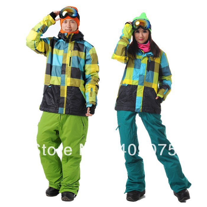 Hot Sale+Lover's/Couple's Style+S-L+Woman Snowboard Jacket for single/double panels+Double Layers+wind/waterproof(China (Mainland))