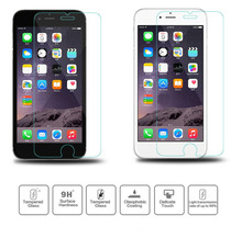 10pcs/lot 9H 0.33mm 2.5D Premium Screen Protector Tempered Glass for iPhone 6 6S Plus 5 5S Lot Protective Film High Quality