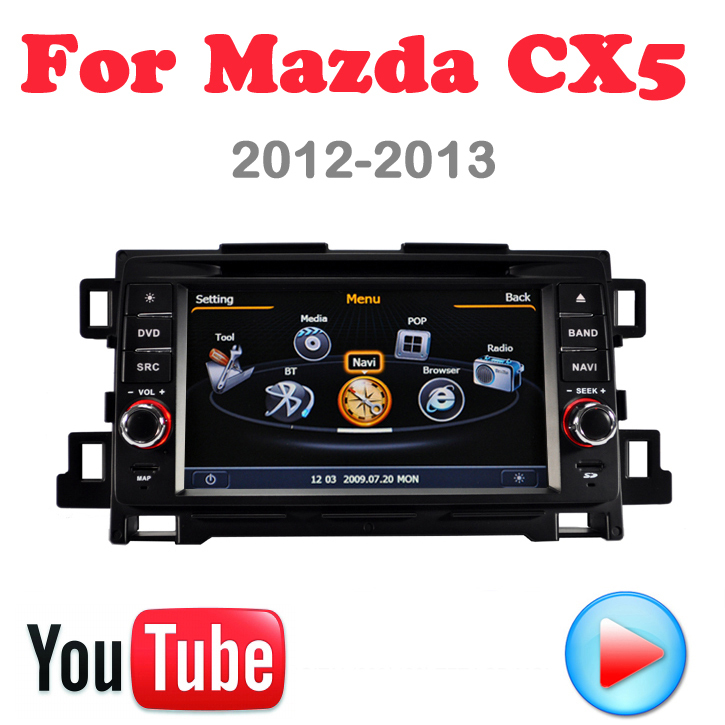 Mazda CX5 CX-5 2012 2013 Car DVD GPS PC console Multimedia Device 3G wifi Navigation HD touch video Factory Price Free Map - Quick Krist's store